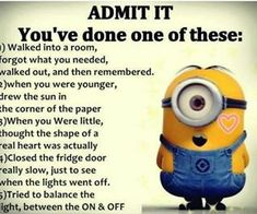 I have done all if them lol – funny minion memes, Funny Minion Quote, funny mini…