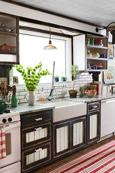 A pro designer turned her grandmother's cook space into a salvage showcase