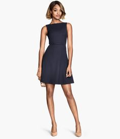Navy dress from H&M http://www.hm.com/fi/product/86585?article=86585-B
