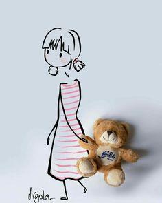 Amazing Drawings, Cute Drawings, Imagination Art, Brain Art, Dibujos Cute, Little Doll, Medieval Art, Art Classroom, Simple Art