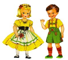 Heidi and Peter Paper Dolls (Saalfield) – Sharon Souter – Picasa Nettalbum