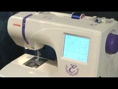 Janome Memory Craft 300E Embroidery Only Sewing Machine - YouTube