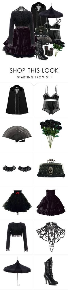 """In a sea of faces, in a sea of doubt, In this cruel place your voice above the maelstrom."" by siennabrown ❤ liked on Polyvore featuring Alice by Temperley, H&M, Napoleon Perdis, Stone_Cold_Fox, River Island, Funtasma, Dark, goth, alternative and victoriangoth"