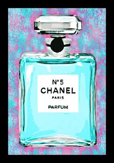 FRAMED Cotton Candy Chanel No. 5 24x36 Giclee Pop by BuyArtForLess