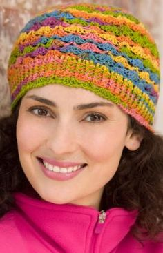 Lace Hat Crochet Pattern  http://www.redheart.com/free-patterns/lace-hat. Go with those gloves <3