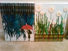 #DIY Melted Crayon Art for The Whole Family