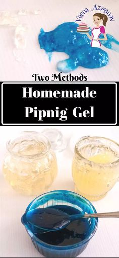 This homemade piping gel is so quick and easy to make you will never have to go without it ever again. It has become an important aspect of cake decorating form glue to sticking flowers. In this post I share with you two recipes one with gelatin as well as a vegetarian.