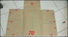 Molde trocador bolsa (fralda, lenços umedecidos, roupa, pomada)