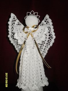 Beautiful Hand crochet White angel Tree topper by MadebyMily, $29.00