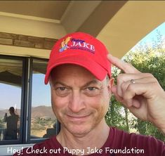 July 27, 2014  Actor Gary Sinise, whose memorable roles include Lt. Dan Taylor in the movie Forrest Gump, recognized Iowa's own Puppy Jake Foundation at an event held on July 24th aboard the USS Iowa battleship in Los Angeles.