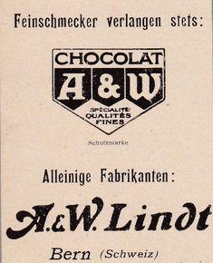 Werbung Lindt 1918