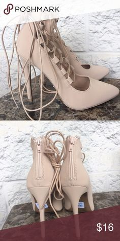 Size 7 Nude lace up heels New with tags, super comfy fit, and chic lace up design 👡✨ Shoes Heels