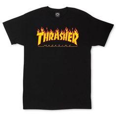 Thrasher Flame SS TShirt Black Orange #Thrasher #PersonalizedTee