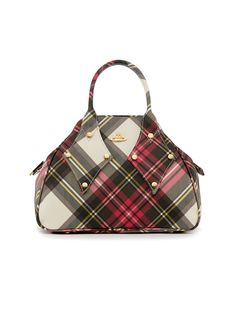 2661142a6f Vivienne Westwood's classic Derby Bag in New Exhibition tartan. The  instantly recognisable Yasmine shape is