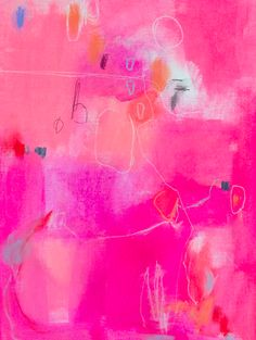 Jenny Andrews Anderson Abstract Painting Hot Pink