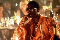 """Boogie Nights"" movie still, 1997.  Don Cheadle as Buck Swope."