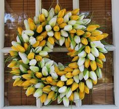 EASY, inexpensive and beautiful DIY spring wreath!