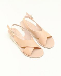 Ancient Greek Sandals Maria Wedge in Natural | #MohawkGeneralStore #AncientGreekSandals