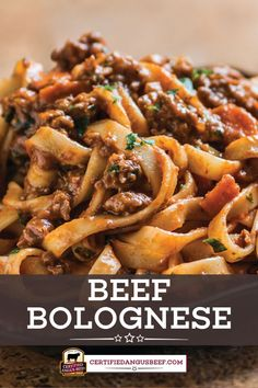 Comforting Beef Bolognese is a hearty Italian pasta dish. This traditional Bolognese sauce recipe brings the flavor of Italy to your table. Beef Recipes For Dinner, Ground Beef Recipes, Meat Recipes, Pasta Recipes, Vegetarian Recipes, Cooking Recipes, Cleaning Recipes, Cooking Tips, Holiday Recipes