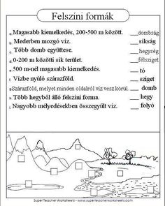 Játékos tanulás és kreativitás: Felszíni formák gyakorlása 3. 400 M, Nature Study, Geology, Geography, Kindergarten, Classroom, Teacher, Science, Learning