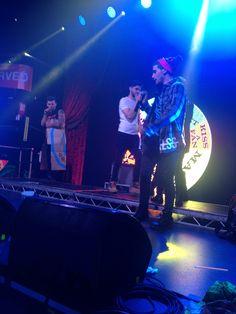 Daniel James and Luke onstage <3
