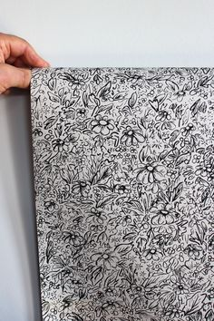 Boho Floral Hand-Drawn Gift Wrapping Paper