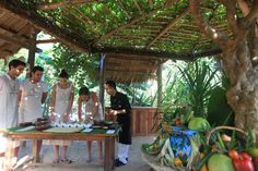 Recipes, method and equipment are all explained by our Masterchefs at our Vietnamese and Fusion cooking classes. You then get to enjoy the lovely dishes with a glass of wine.