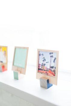 DIY wooden polaroid stands
