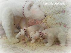 Baby ijsbeertjes, handgemaakt door Sanneke Panneke