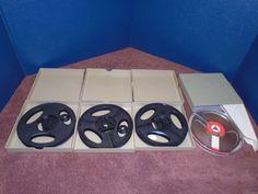 3 vintage 5 in. take up reels and 1 vintage 5 in BASF tape . Reel to reel tape #BASF