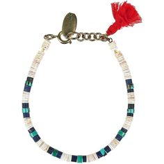 Isabel Marant Shell and stone bracelet ($42) ❤ liked on Polyvore featuring jewelry, bracelets, accessories, isabel marant, necklaces, cobalt blue, tri color jewelry, multi colored stone jewelry, sea shell jewelry and multicolor jewelry