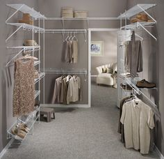 Turning a room into a closet. I need to do this. Sorry future guests!