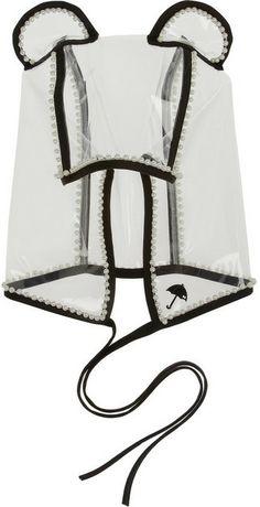 Maison Michel Lara faux pearl-embellished PVC hood on shopstyle.com