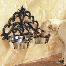 Wall-mount Dog Feeder - Great for an outside feeder