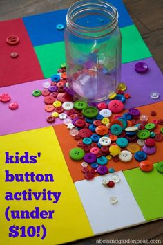 Easy Button Board Toddler and Preschooler Activity