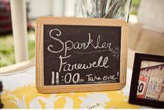 chalkboard wedding sign for the sparklers! Farm Wedding, Wedding Signs, Wedding Blog, Diy Wedding, Dream Wedding, Wedding Ideas, Wedding Crafts, Wedding Stuff, Sparkler Send Off