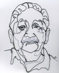 Image detail for -Templeton Sculpture Blog: wire portrait in progress