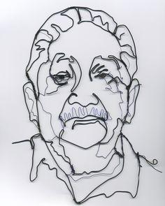 Image detail for -Templeton Sculpture Blog: wire portrait in progress