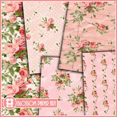 Free Printable Decoupage Papers | ... Scrapbooking Pack - Decoupage - Digital Paper - Printable - DIY - 1619