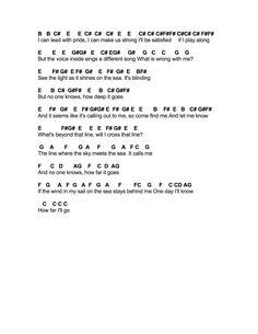 Flute Sheet Music: How Far I'll Go