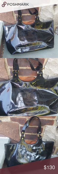 Tory Burch Bombe bag One of the original Tory Burch bags which is guaranteed authentic. Please check pictures as there is surface where on both sides but it is still a great bag. Tory Burch Bags