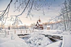 Великолепные зимние пейзажи с церквями. Самые светлые фотографии;) - Фотопанорама