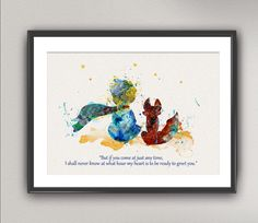 The LITTLE PRINCE Nº24 art print watercolor by oinkartprints