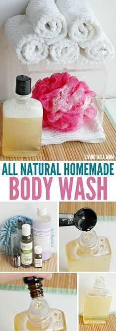 With 3 all-natural ingredients (including essential oils), you�ll be amazed at how easy it is to make homemade body wash!