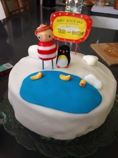Lost and Found Oliver Jeffers themed cake.