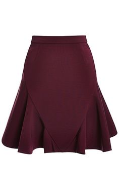 Flared Stretch-Jersey Skirt by Cushnie et Ochs - Moda Operandi: Red Skirts, Cute Skirts, Mini Skirts, Vintage Mode, Retro Vintage, Skirt Fashion, Fashion Dresses, Moda Chic, Jersey Skirt