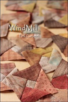 Patchwork *Pink Caramel*: WindMill 1 no instructions. Colchas Quilting, Scrappy Quilts, Mini Quilts, Quilt Block Patterns, Pattern Blocks, Quilt Blocks, Quilting Tutorials, Quilting Projects, Quilting Designs