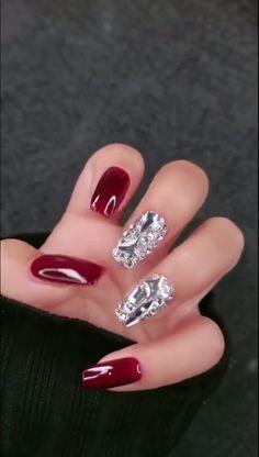 Simple nails art design video Tutorials Compilation Part 27 - Christmas nails Cute Christmas Nails, Xmas Nails, Christmas Nail Art Designs, Holiday Nails, Red Nails, Christmas Makeup, Christmas Nail Stickers, Nail Art Designs Videos, Simple Nail Art Designs