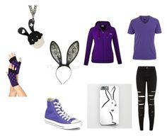 """Purple Bunny"" by animefan333 ❤ liked on Polyvore featuring Converse and Sweet & Co."