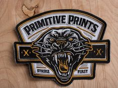 Strike First 5 Embroidered Patch by strawcastle on Etsy